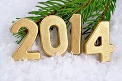 chiffres d'or de 2014 ans Photo stock