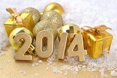 chiffres d'or de 2014 ans Images libres de droits