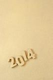 chiffres d'or de 2014 ans Photos stock