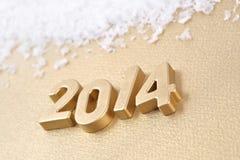 chiffres d'or de 2014 ans Image libre de droits