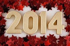 chiffres d'or de 2014 ans Images stock