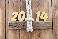 chiffres d'or de 2014 ans Photo libre de droits