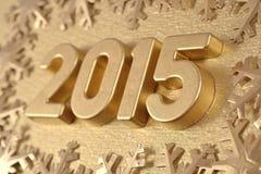 chiffres d'or de 2015 ans Photos libres de droits