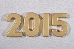 chiffres d'or de 2015 ans Images stock