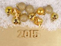 chiffres d'or de 2015 ans Photos stock
