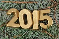 chiffres d'or de 2015 ans Photographie stock