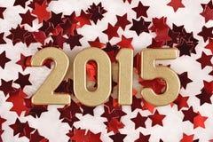 chiffres d'or de 2015 ans Photographie stock libre de droits