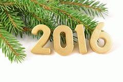 chiffres d'or de 2016 ans Image stock