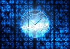 Chiffres de données numériques et hologramme de Cryptocurrency Photo libre de droits