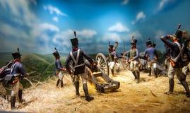 Chiffres de reconstitution de guerre civile Photo libre de droits
