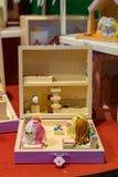 Chiffres en bois de jouet image stock