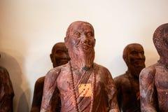 Chiffres en bois de statues de Bouddha en Thaïlande Image libre de droits