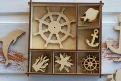 Chiffres en bois marins photo stock