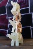 Chiffres en pierre de bonheur fait main d'éléphants ! Photo stock