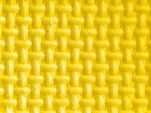 chiffres en plastique dans 3d jaune avec la texture Images stock