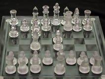 Chiffres en verre d'échecs Photos libres de droits