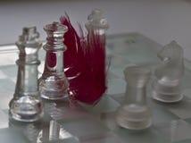 Chiffres en verre d'échecs Images stock