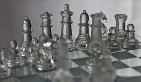 Chiffres en verre d'échecs Photo stock