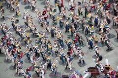 Chiffres exclusifs de photo des soldats le plan rapproché fait main du 19ème siècle Image libre de droits
