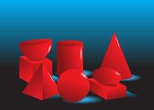 Chiffres géométriques. illustration stock