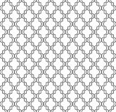 Chiffres géométriques circulaires conception de vecteur sans couture islamique de modèle d'ornement Image stock