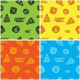 Chiffres géométriques colorés Photos libres de droits