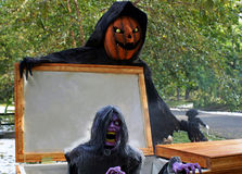 Chiffres horribles montrés pendant Halloween Photo stock