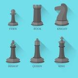 Chiffres noirs d'échecs sur le fond bleu illustration libre de droits