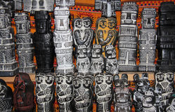 Chiffres rituels traditionnels d'Aymara, marché de sorcières Photos libres de droits