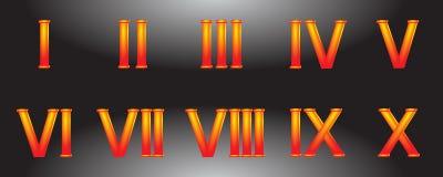 Chiffres romains illustration de vecteur