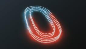 Chiffres rougeoyants de néon Images stock