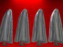 Chiffres vêtus par blanc Images libres de droits