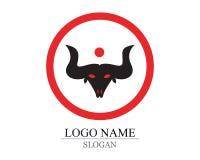 chifre de Bull do logotipo e dos símbolos ilustração royalty free