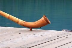 Chifre de madeira fotografia de stock