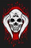 Chifre do crânio do diabo Foto de Stock