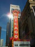 chigago剧院在城市 免版税库存照片