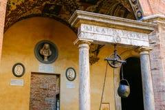 Chigi Saracini pałac w Siena, Tuscany zdjęcia royalty free