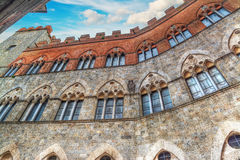 Chigi-Zondadari Palace in Siena under a blue sky Stock Photography