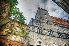 Chigi-Zondadari Palace in Siena under a grey sky Royalty Free Stock Photos