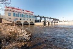 Chigirinsky hydroelektryczna stacja lokalizować na rzece obraz stock