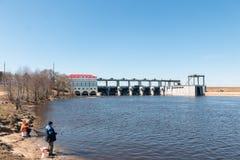 Chigirinsky hydroelektryczna stacja lokalizowa? na rzece fotografia royalty free