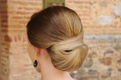 Chignon detail in a wedding Stock Images