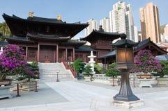 chiHong Kong lin nunnekloster Arkivfoto