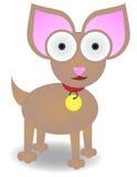 Chihuahua die geïsoleerder Vector bevindt zich Stock Afbeelding