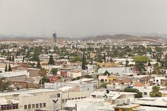 Chihuahua Mexico elevated view of city Royalty Free Stock Photography