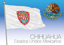 Chihuahua regional flag, United Mexican States, Mexico Royalty Free Stock Photos