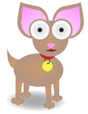 Chihuahua standing isolated Vector. Chihuahua standing alone with oversized eyes and ears Stock Image