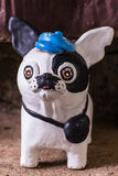 Chihuahua statue, dog clay Royalty Free Stock Photography