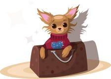 Chihuahua w torbie ilustracji