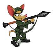Chihuahua z wyrzutnią rakietową ilustracja wektor